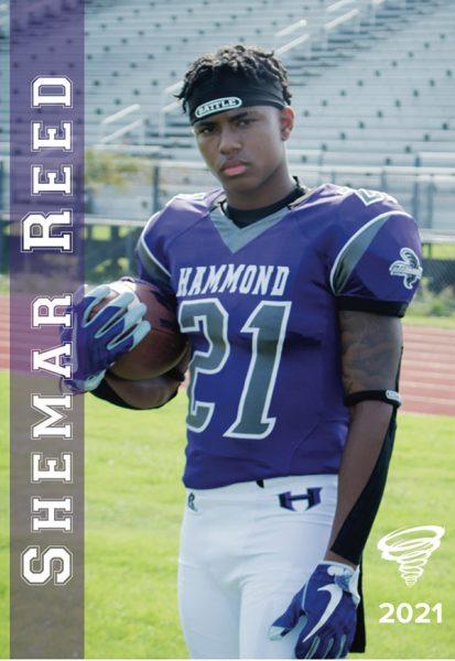 Shemar Reed football bio photo.